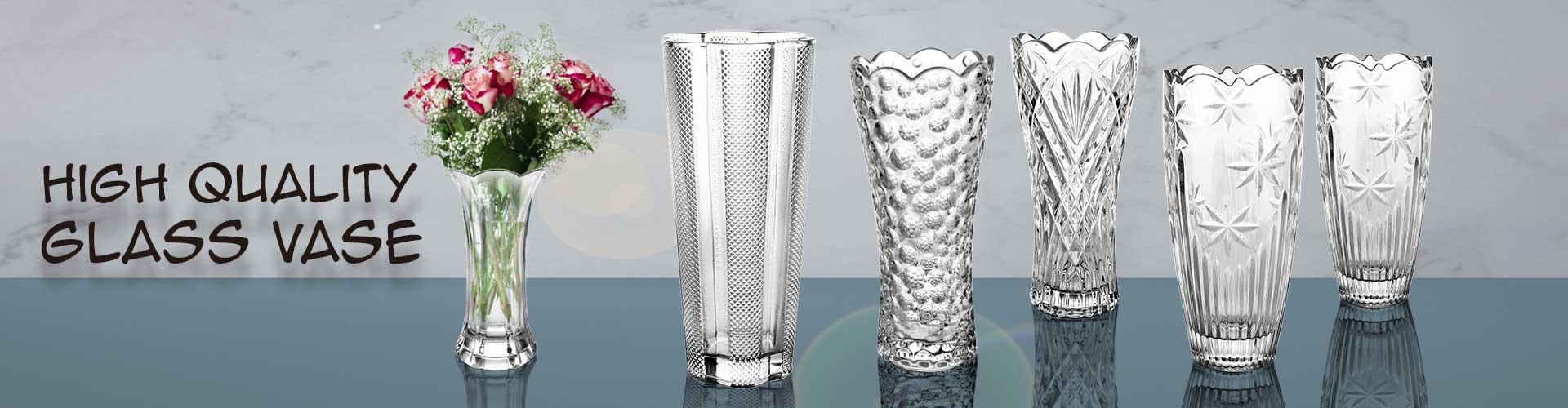 florero de cristal promocional