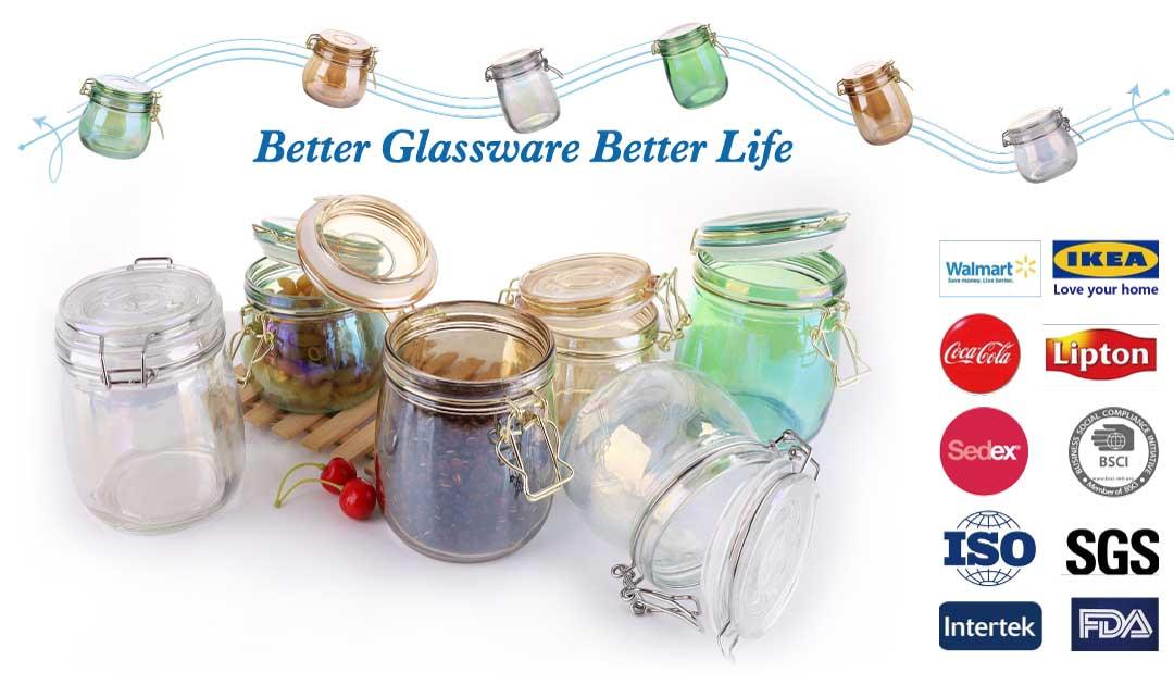 glass food storage jars