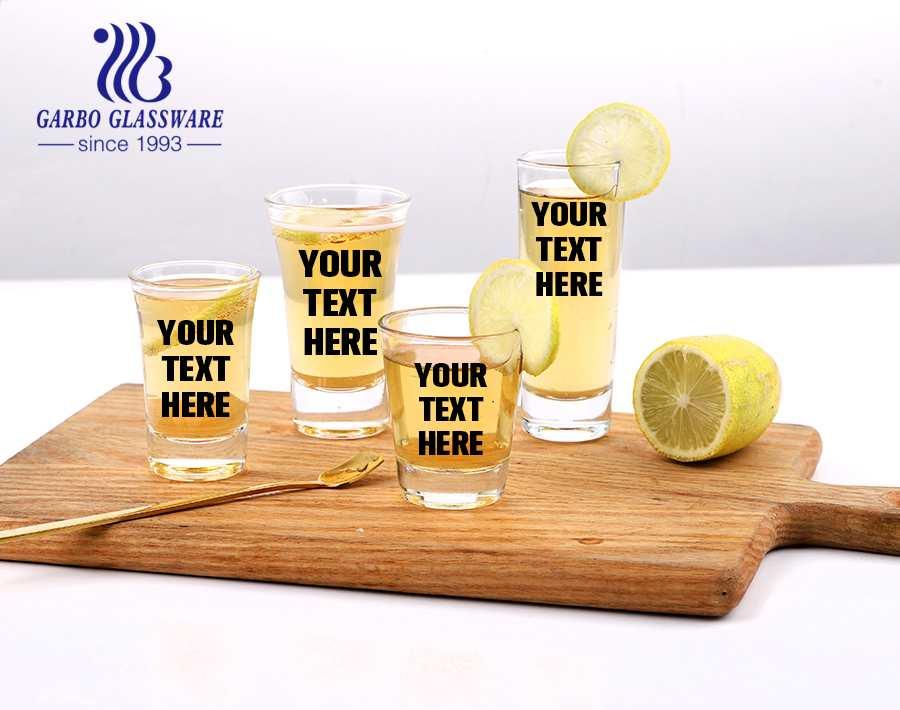 2.5oz classic custom personalized shot glasses vodka glass for spirit