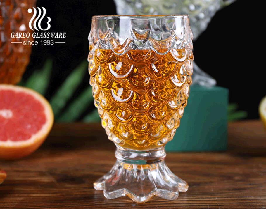 7PCS high-white transparent mermaid tail design glass water drinking serving jug set pitcher set