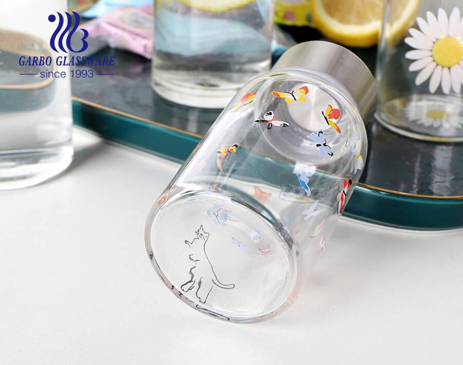 مقاومة للحرارة 180 مل 280 مل 380 مل بيركس زجاج البورسليكات زجاجة رياضية رياضية بغطاء دوار