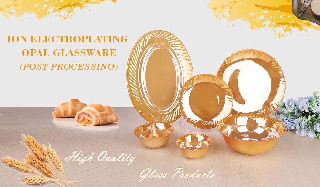 electroplating opal glassware