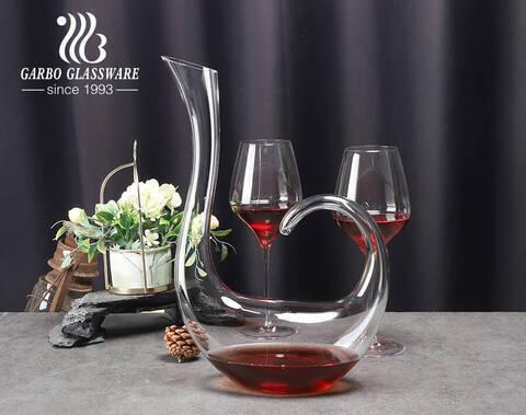 1500 مللي شكل بجعة واضح النبيذ الأحمر دورق دورق النبيذ اليدوية الكريستال أواني