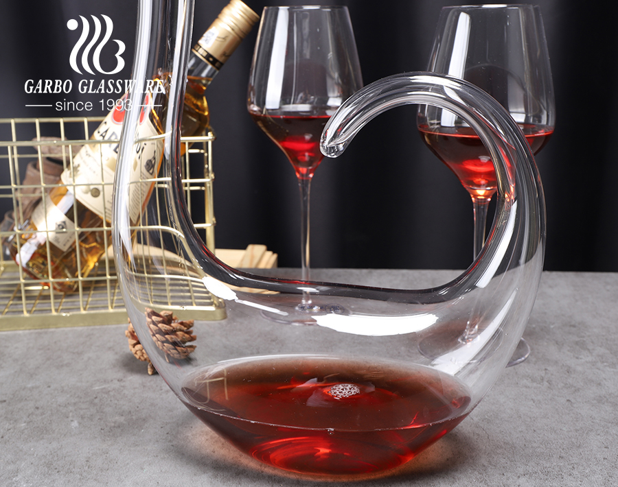 1500ml swan shape clear red wine carafe decanter handmade crystal wine decanters