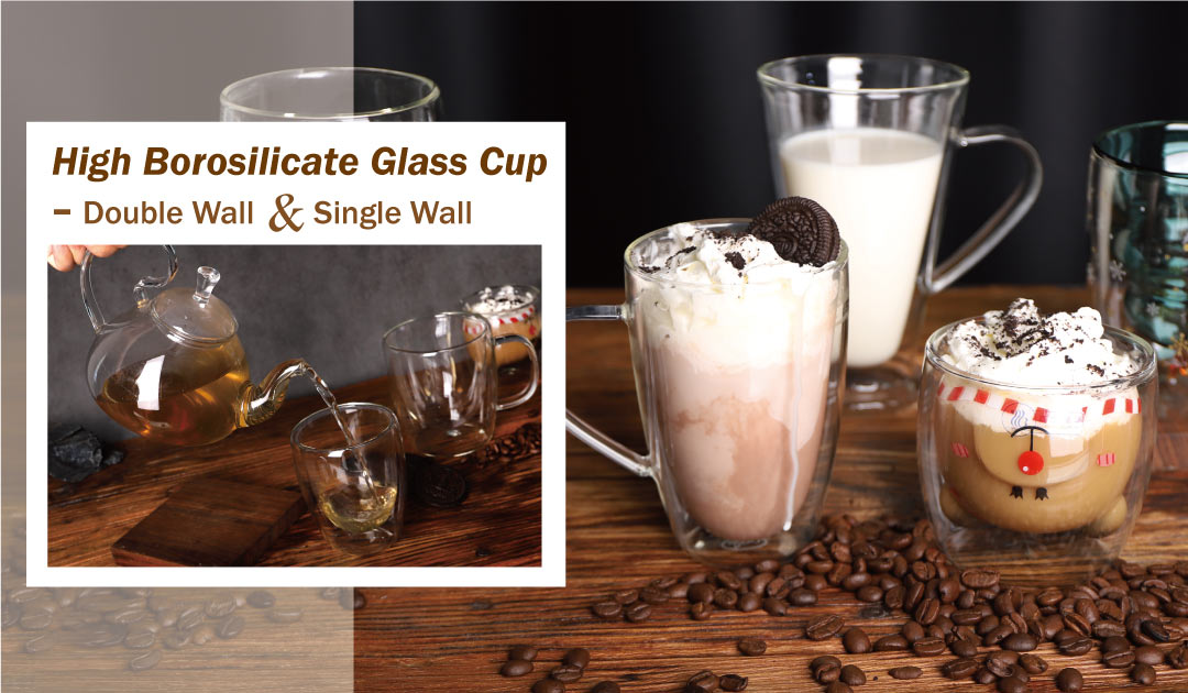 double wall glass mug wholesale