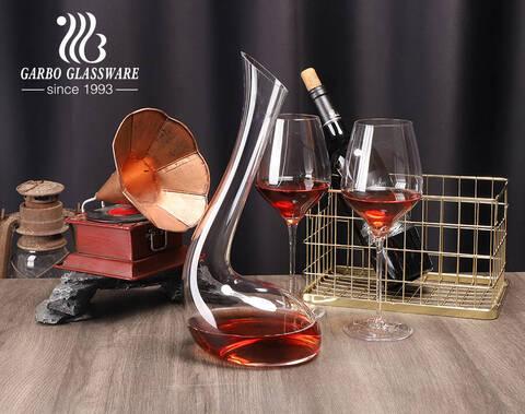 Jarra de vino de cristal sin plomo hecha a mano personalizar jarra de vino de regalo de forma única