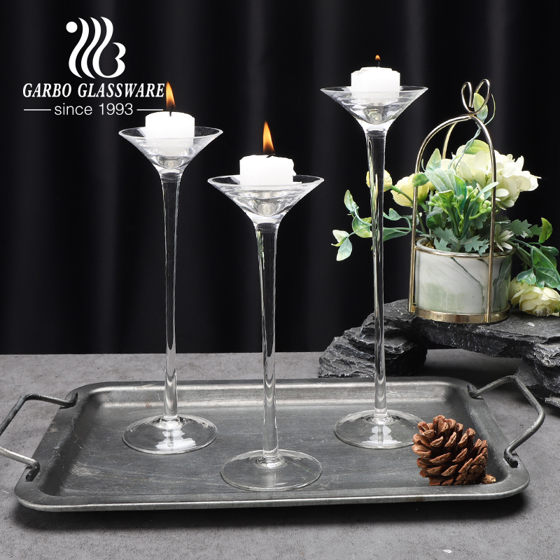 High-end clear glass votive candle holder for wedding table decor