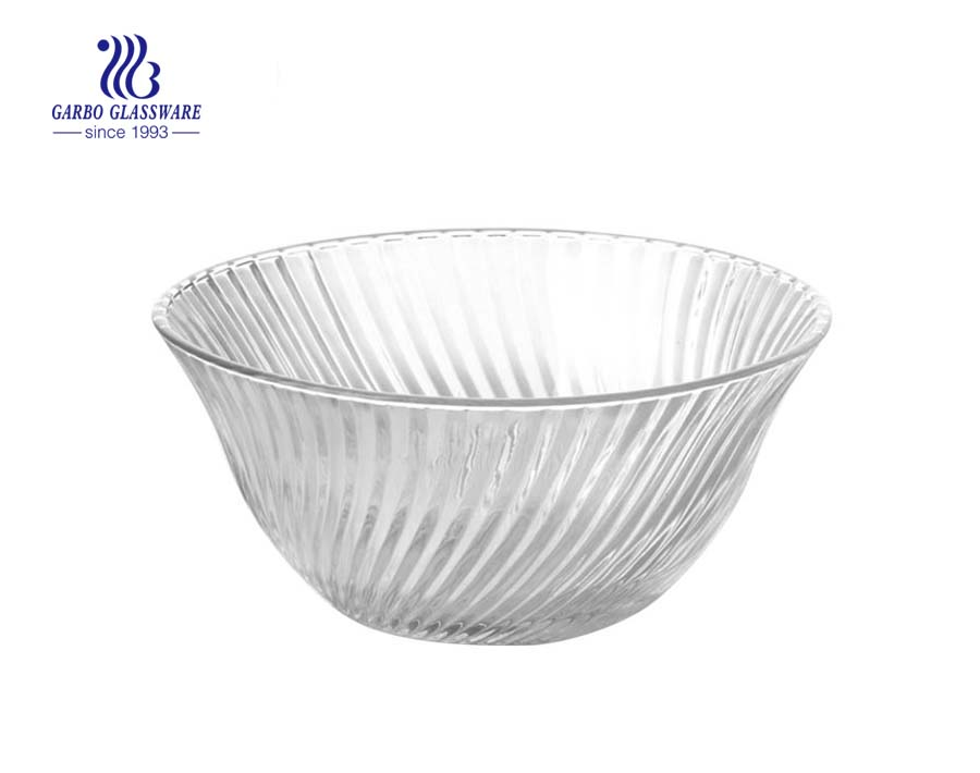 "6.7"" China made round glass bowl in wholesale cheap price"