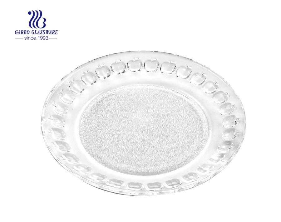 """Prato de vidro com design clássico de maçã 9 """"feito na China"""