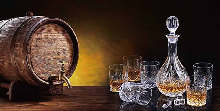 7 pcs bulk wholesales wine whiskey glass set 800ml glass decanter with glass cup glass decanter whiskey set