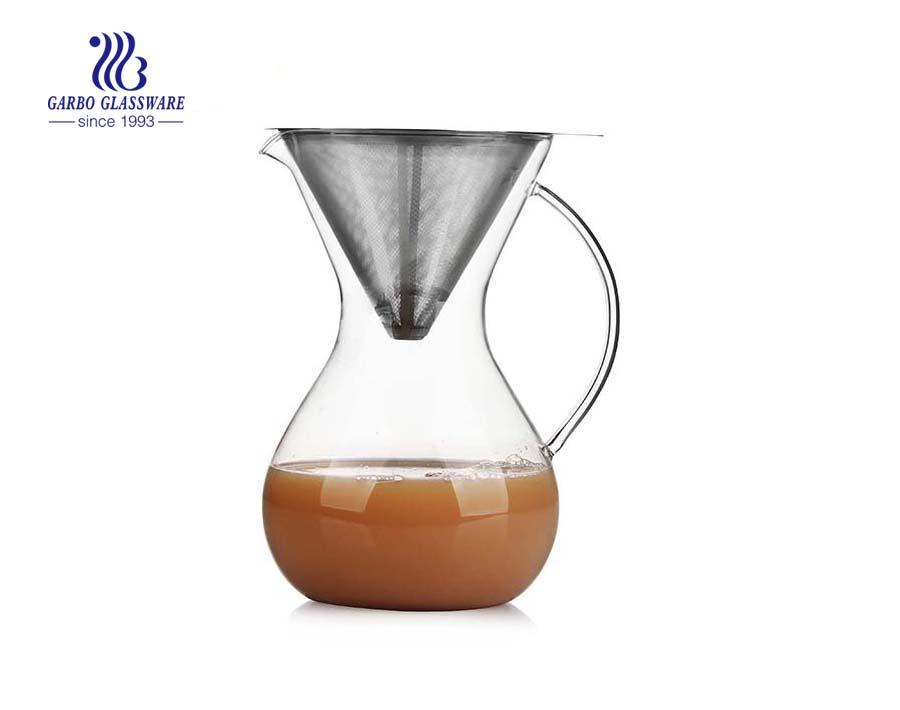 LFGB Pass 46oz Pyrex Glas Kaffeemaschine für den Großhandel