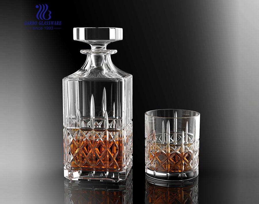 Fabrik Großhandel Bar Glas Dekanter mit Tassen GB12024HT