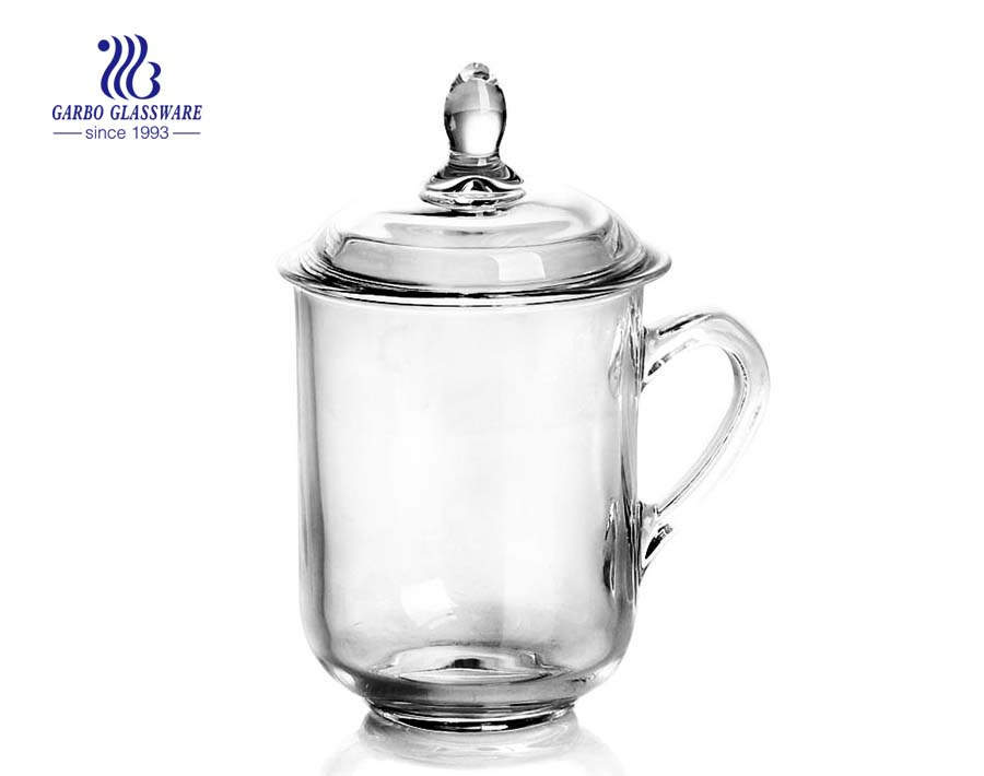 clear high quality cup tea glass with 376ml