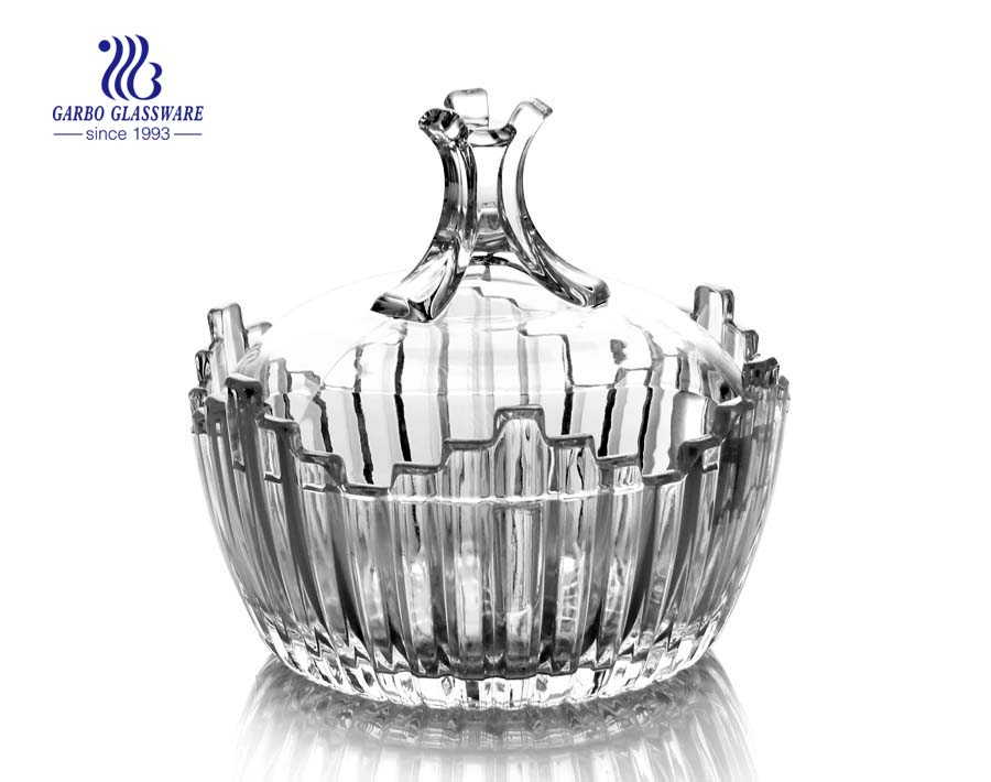 Hot Sale Glass Candy Jar with Lid