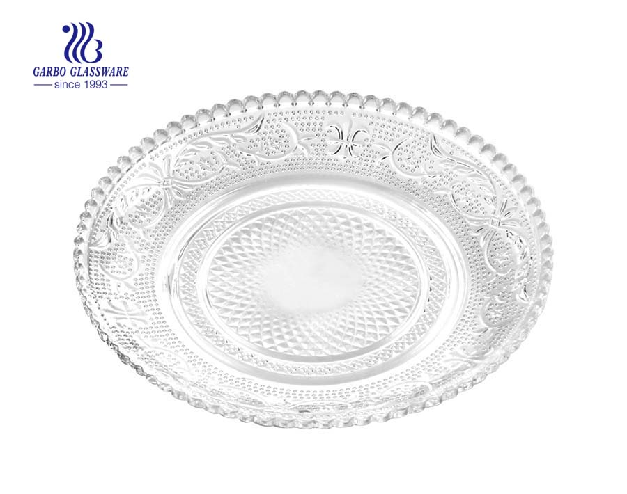 "CHINA Supplier 6"" STOCKED glass serving dinner plate"