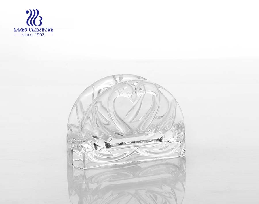 5inch clear glass napkin holders for sale
