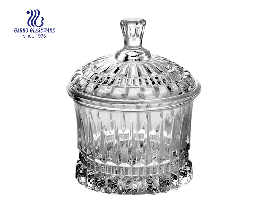 High White Quality Glass Candy Jar