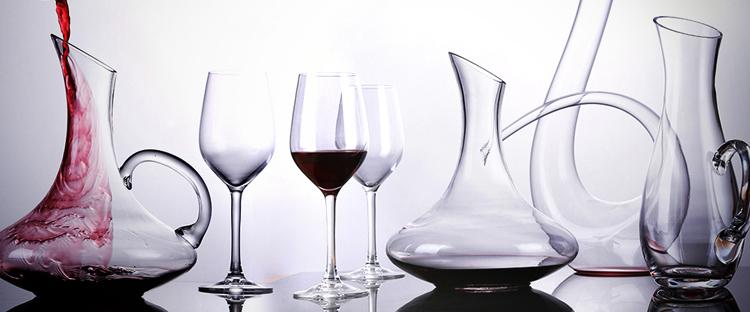 China barato decantador de vidro de vinho tinto