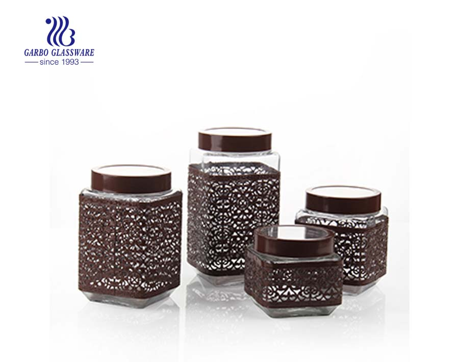 2L glass food storage jars wholesale