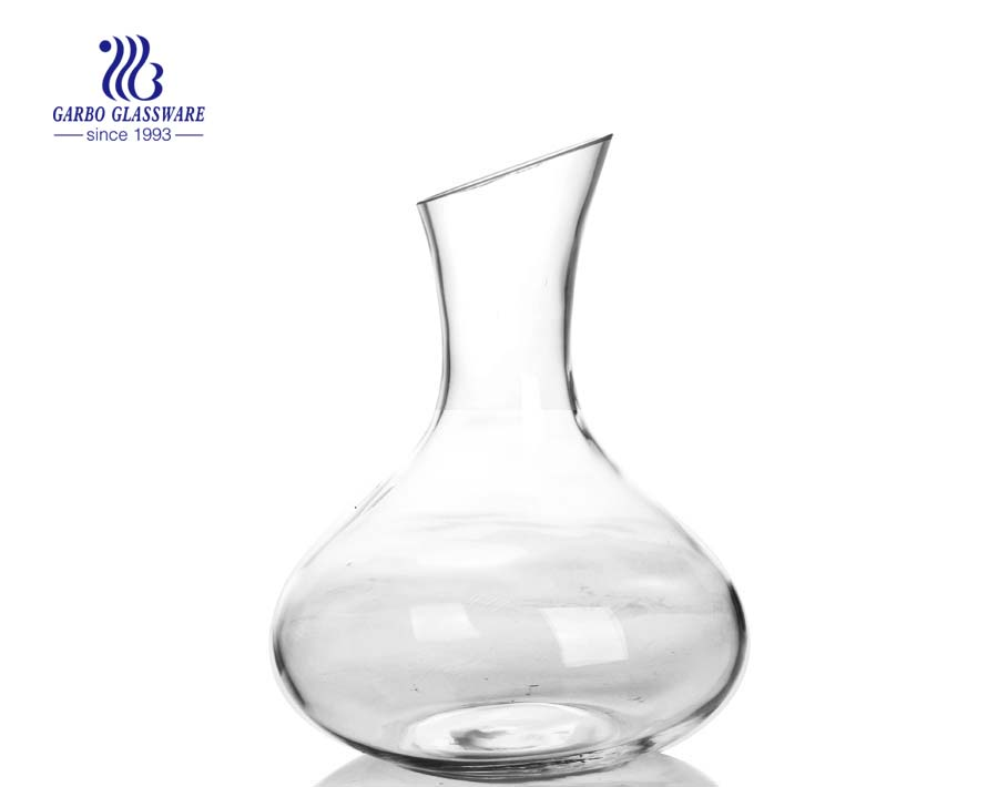 2.3L China cheap handmade big red wine glass decanters