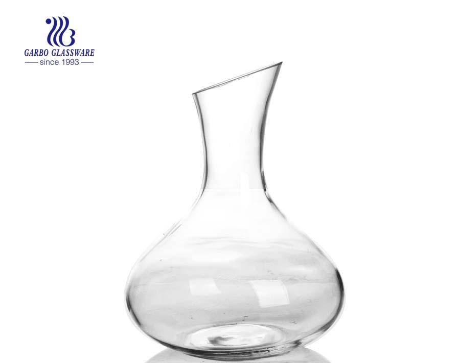 2.3L China barato handmade grandes decantadores de vidro de vinho tinto