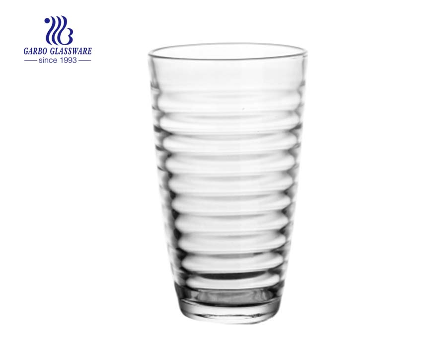 16oz egg shape water glass cup
