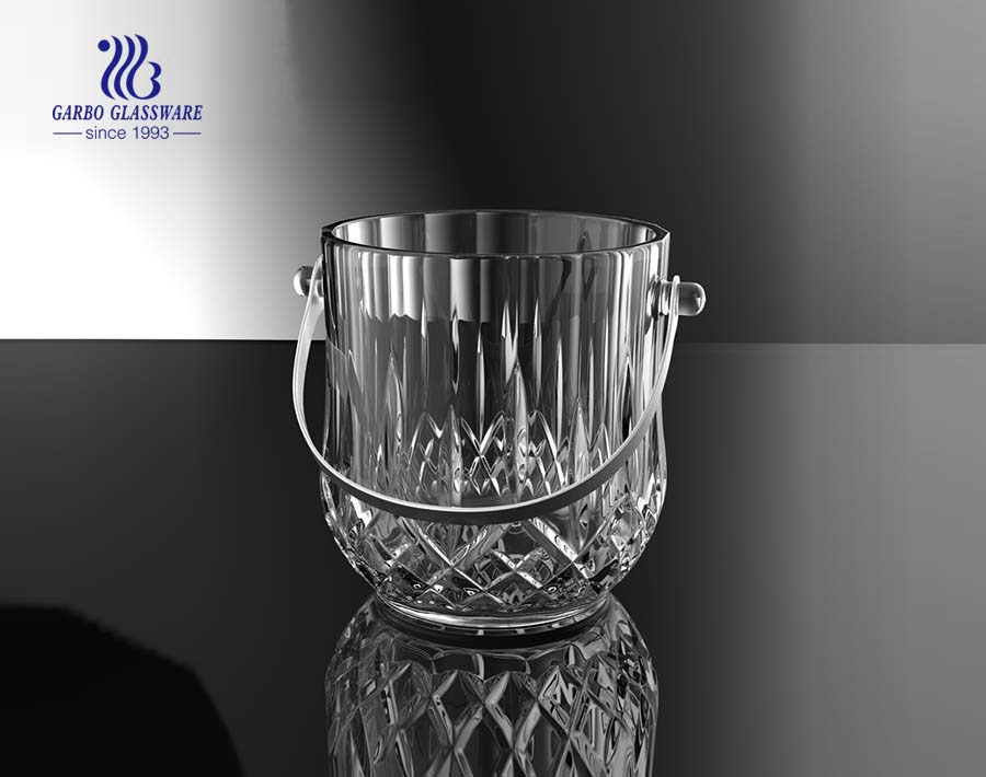 Customized cut glass ice bucket