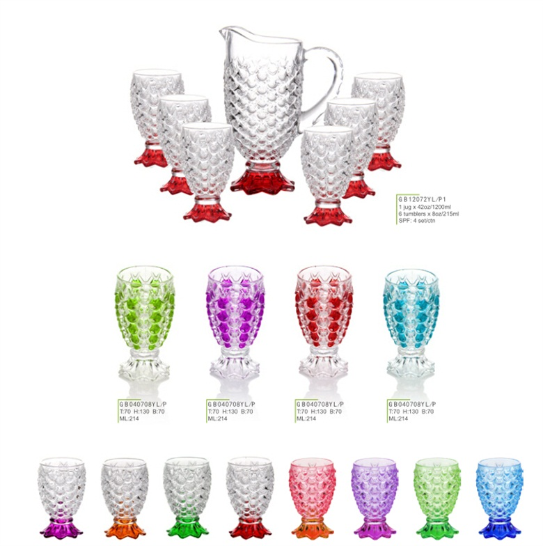 Funny fish scale glass series