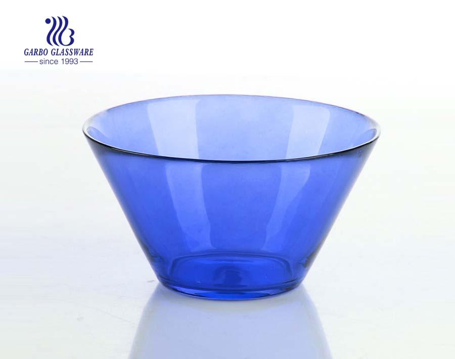 V shape glass salad bowl kitchenware