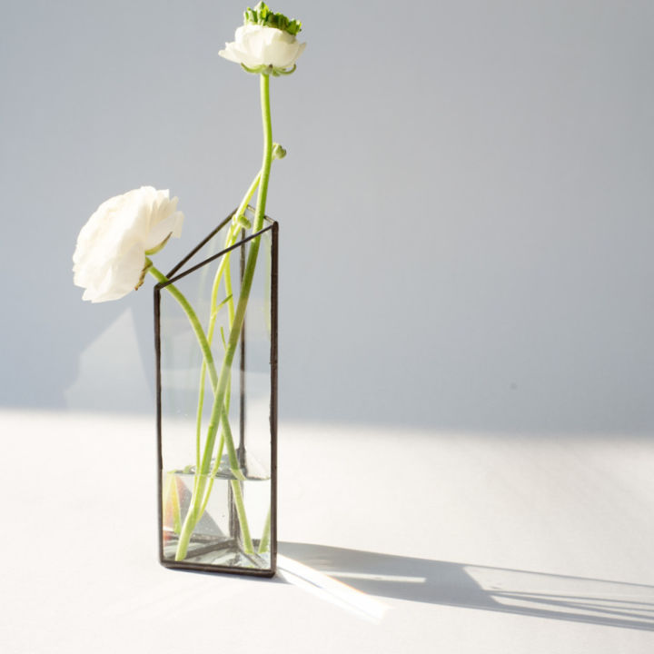 sprayed color glass vase wholesale