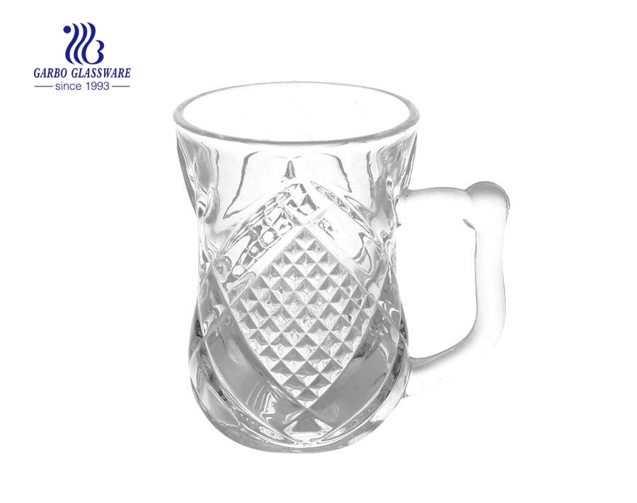 75ml small tea glass with handle