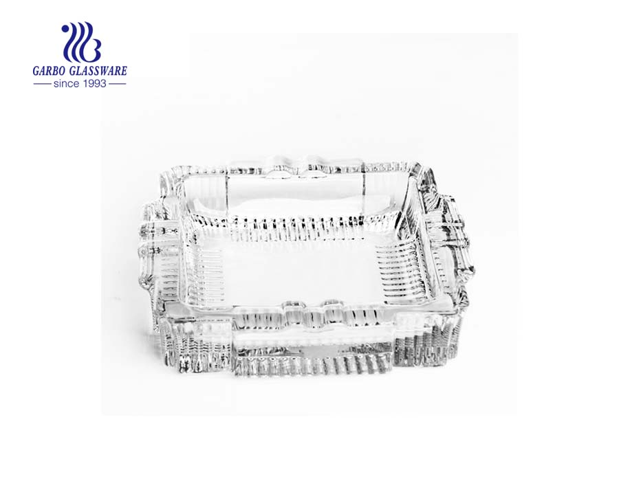 square shape glass ashtray manufacturer
