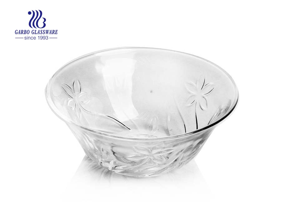 5 inch small hot sell design glass cake bowl