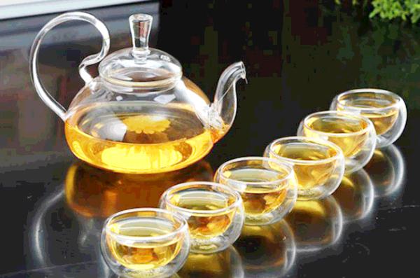Japanese glass tea cup
