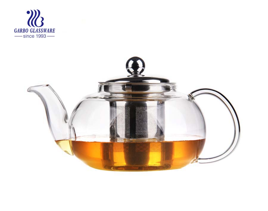 clear glass tea teapot
