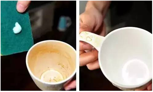 How to remove the Tea dirt from the cup?