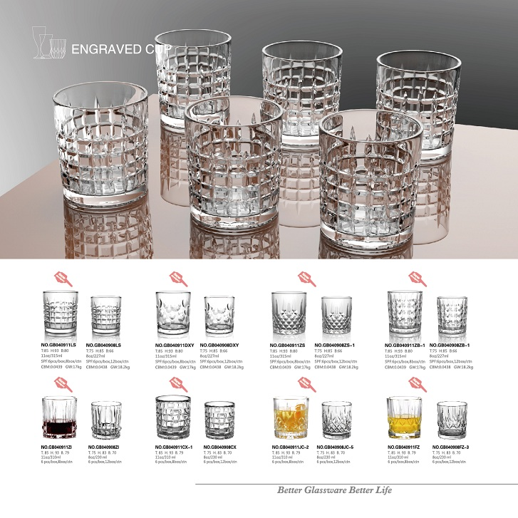 The most classic and popular DOF whiskey glass tumblers