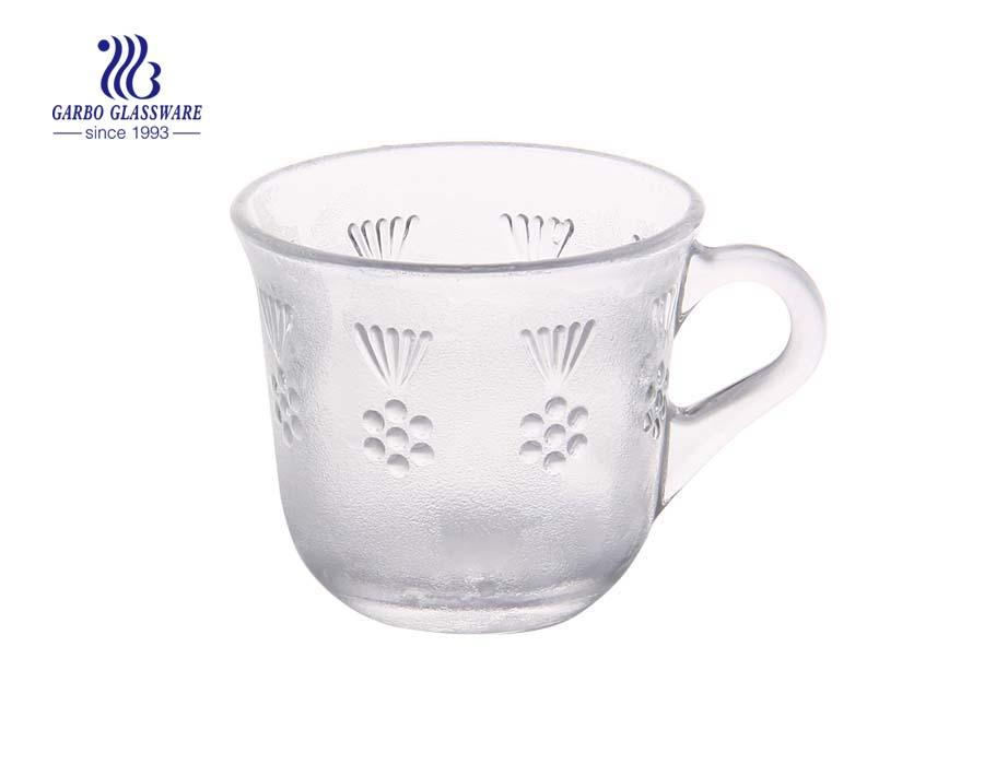 Caneca de café de vidro 170ml com alça