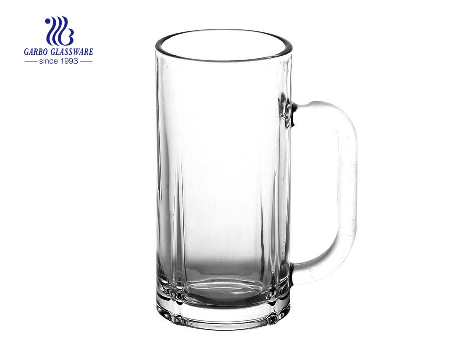 300ml plain glass beer mug