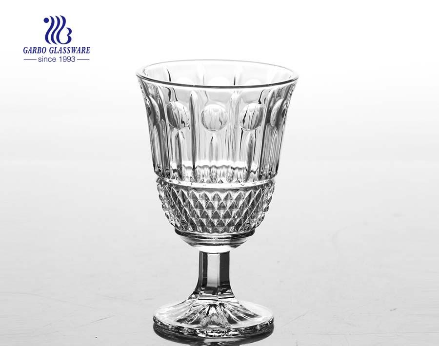 كأس آيس كريم زجاجي محفور بالجملة على الطراز الكلاسيكي