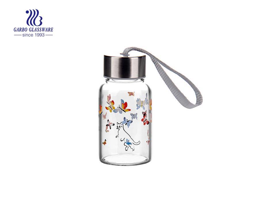 Garrafa de vidro transparente de pirex de 150 ml por atacado