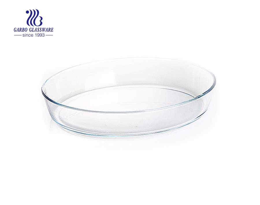 China glassware manufacture 2.2L pizza baking bowls