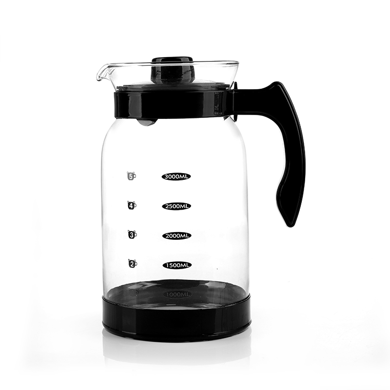 glass water pitcher with lid