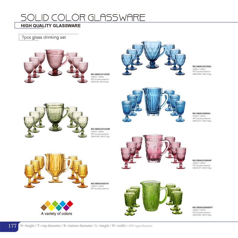 The most popular solid color embossed glassware on sale