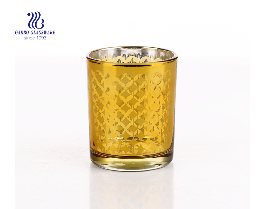 Customized Material and Home Decoration Use Glass Candle Holder