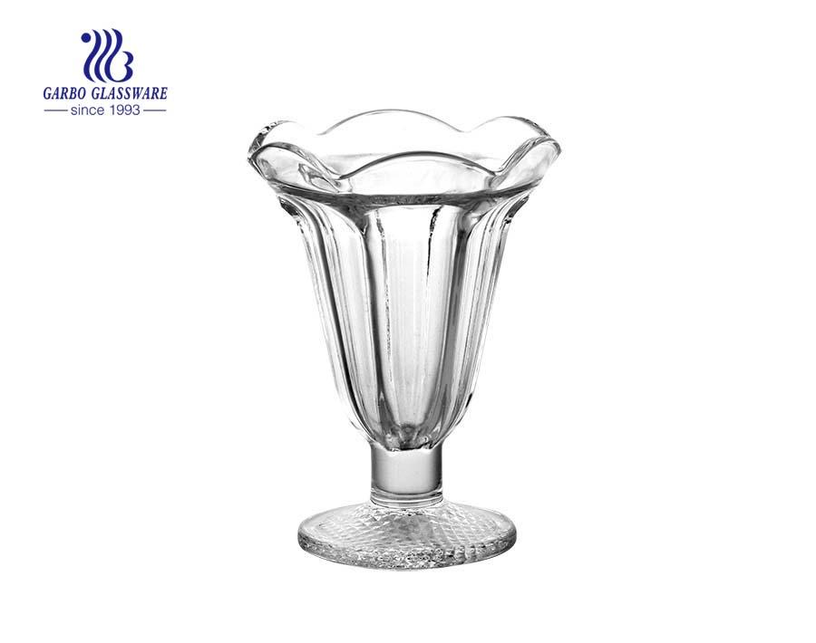 VTG Tulip Dessert Dishes Clear Glass Ice Cream Sundae Cup Parfait