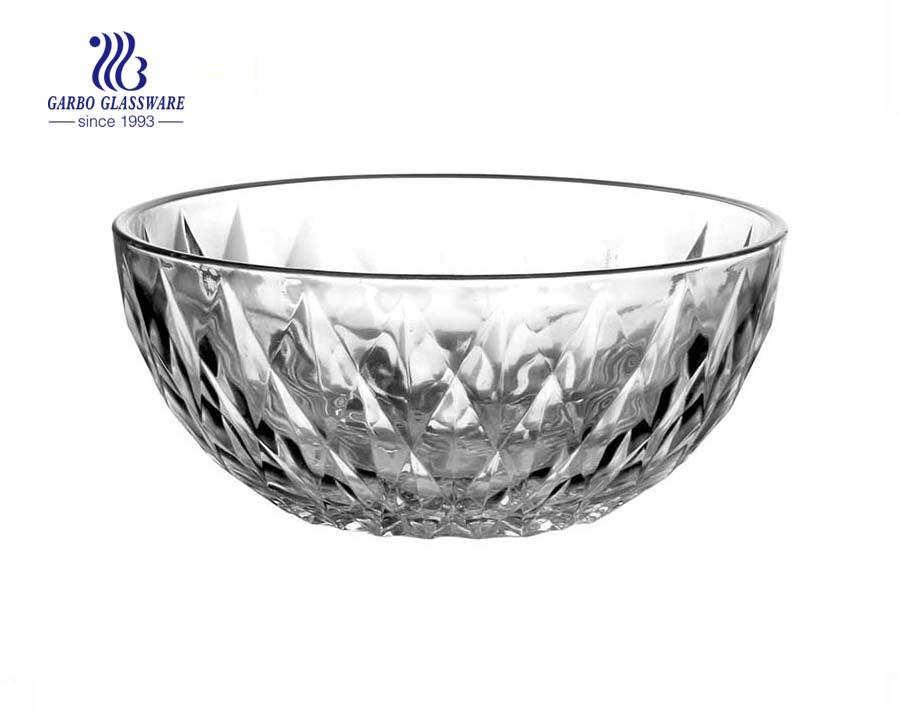 Classic Diamonds Glass Serving Bowls