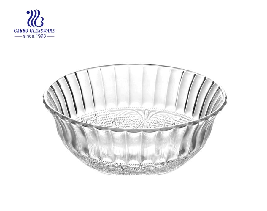 Factory Direct 350ml Glass Salad Fruit Bowl with no Lid