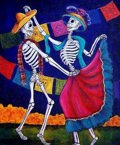 Do you know the skeleton culture?---Skeleton culture in Mexico