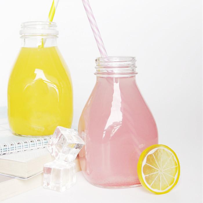 glass fruit juice bottle